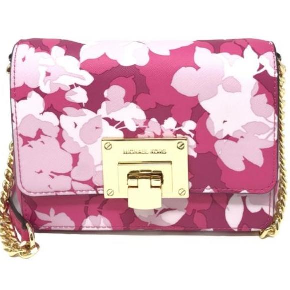 dad8311fe797 Small Pink Floral Clutch Crossbody by MK